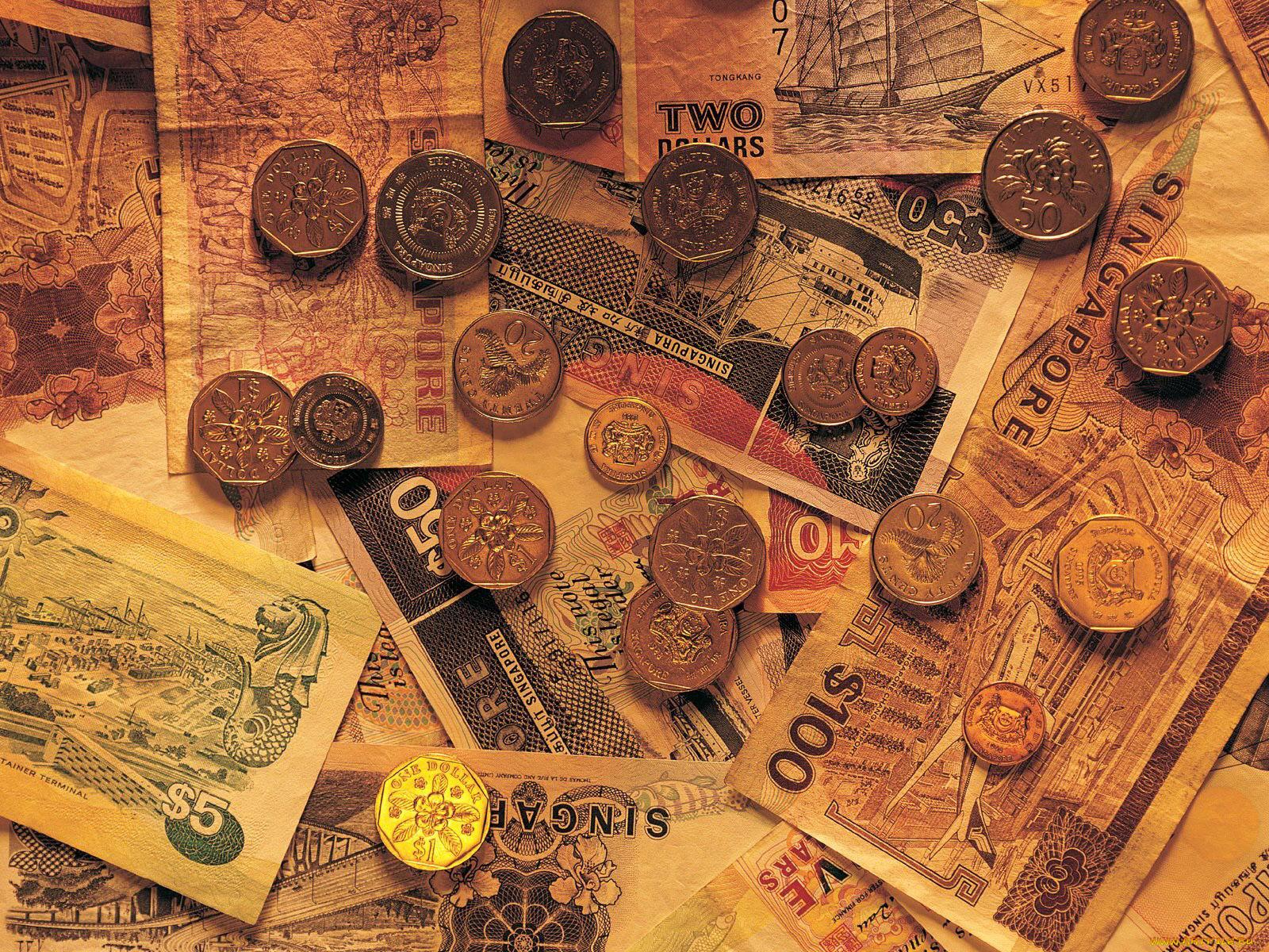 картинки с денежными купюрами и монетами